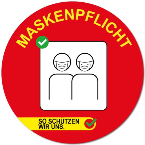 Maskenpflicht-Rund-40cm_rot